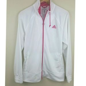 Adidas  hot pink and white Jacket